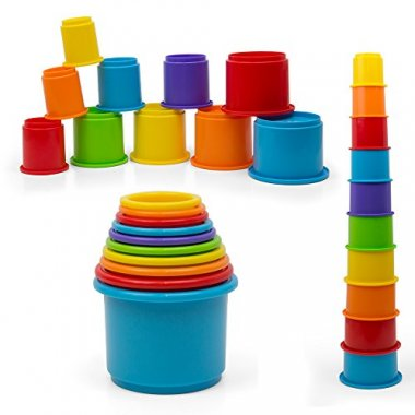 Rainbow Stacking & Nesting Cups Baby Building Set