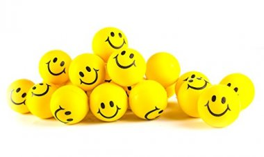 Neliblu Neon Yellow Smile Funny Face Stress Ball