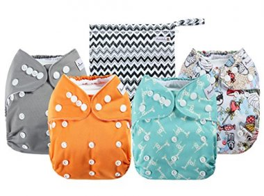 Anmababy 4 Pack Adjustable Size