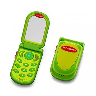 Infantino Flip and Peek Fun Phone, Green