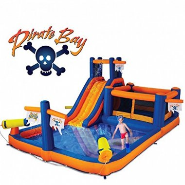Blast Zone Pirate Bay Inflatable Bounce & Water Park