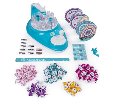 The KumiKreator Friendship Bracelet Maker features 88 spools.