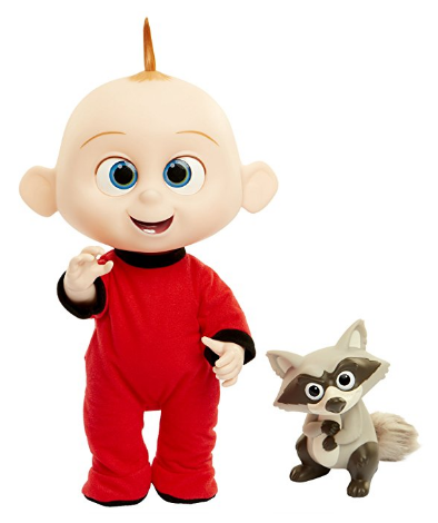 The Incredibles 2 Jack-Jack Plush-Figure comes with a raccoon toy.