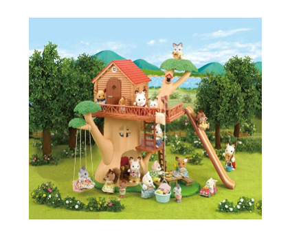 Help your kids gain pretend play skills with the Calico Critters Adventure Tree House.