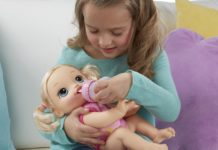 The Baby Alive Baby Go Bye Bye is one of the most popular interactive toys in 2018.