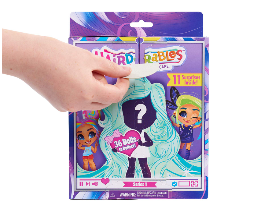 Each package of the Hairdorables Collectible Surprise Dolls includes 10 stylish accessories.