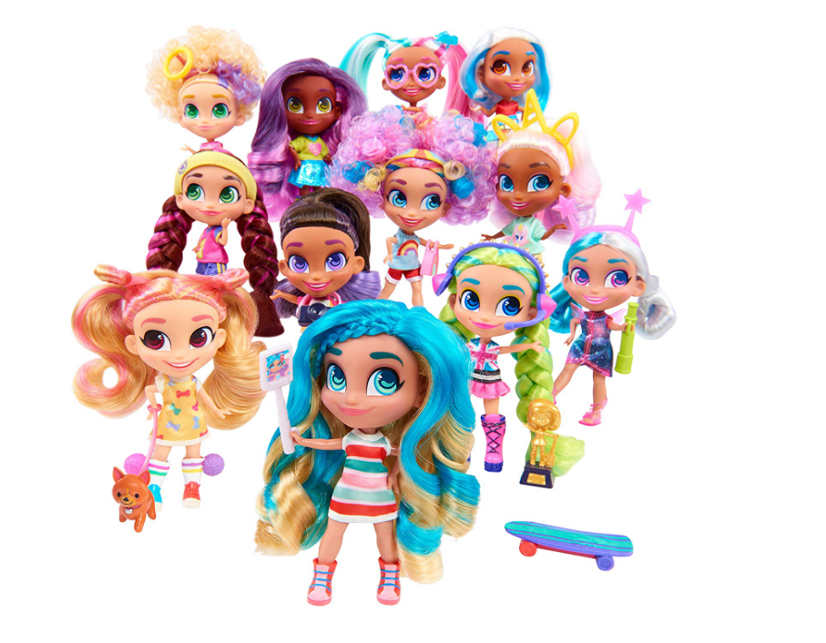 The Hairdorables Collectible Surprise Dolls are for children aged 3+.