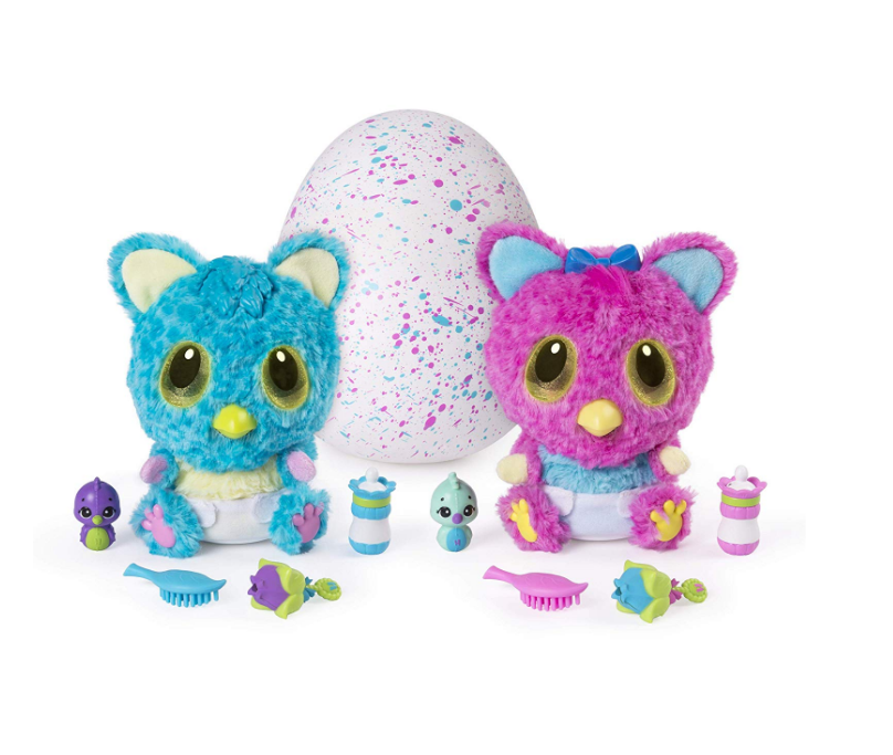 Hatchimals HatchiBabies come with batteries.