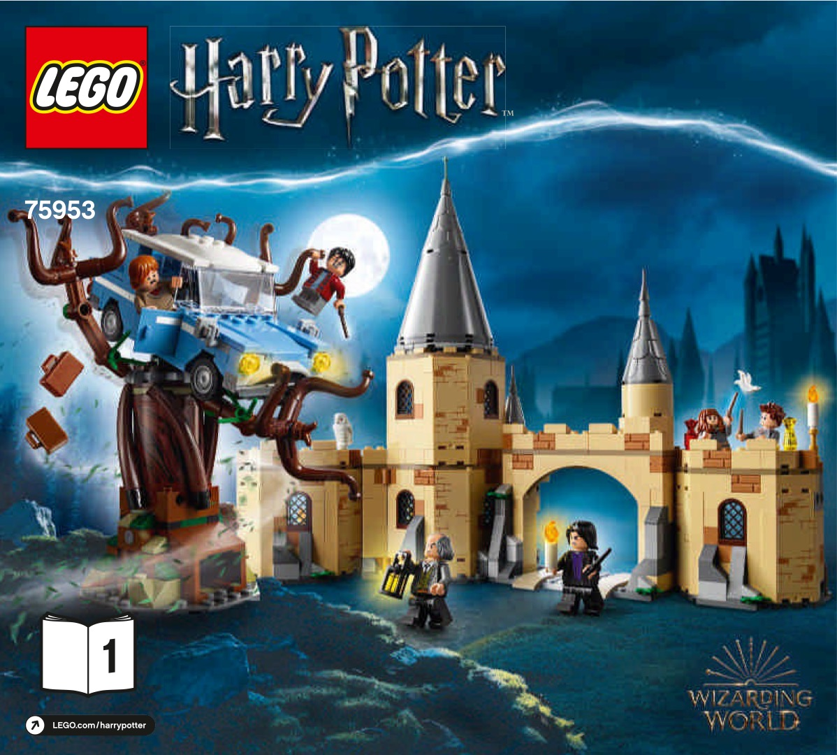 Lego Harry Potter Hogwarts Whomping Willow Building Set box