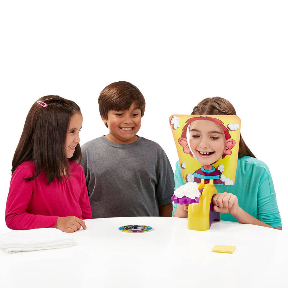 The Pie Face Game by Hasbro develops social skills.