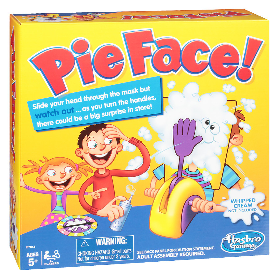 The Pie Face Game by Hasbro is a hillarious game.
