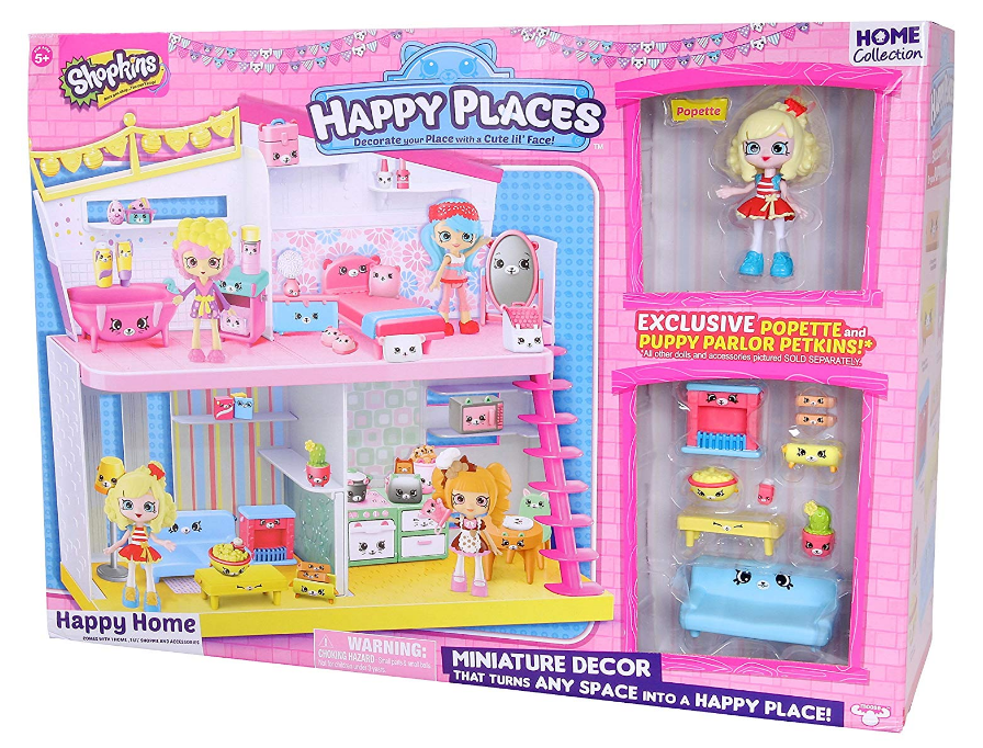 The Shopkins Happy Places Happy Home features many accessories.