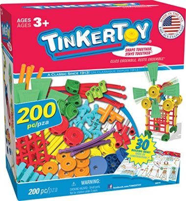 TINKERTOY 30 Model Super Building Set 200 Pieces