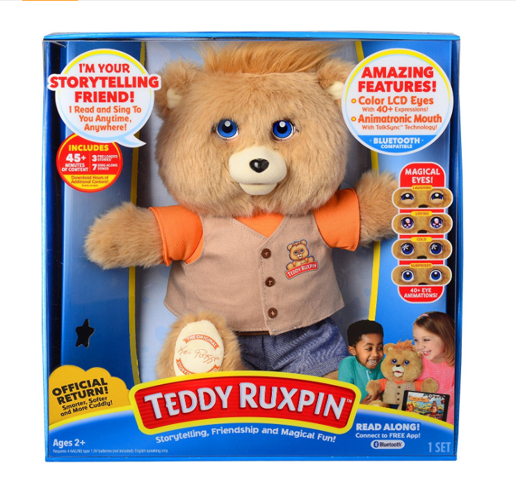 Teddy Ruxpin is a cuddly toy.