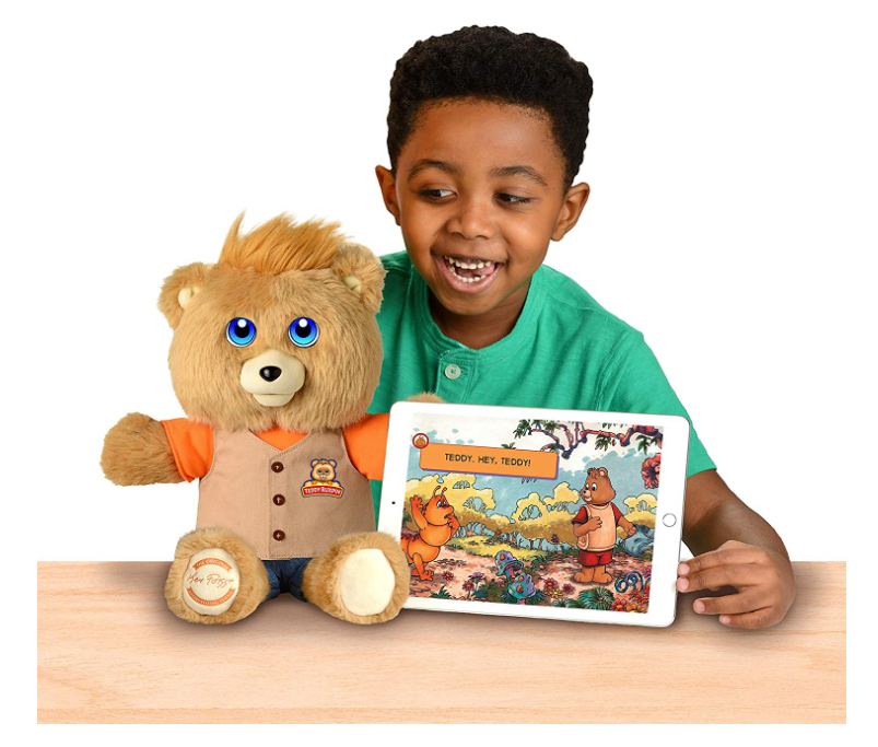 Teddy Ruxpin promotes pretend play.