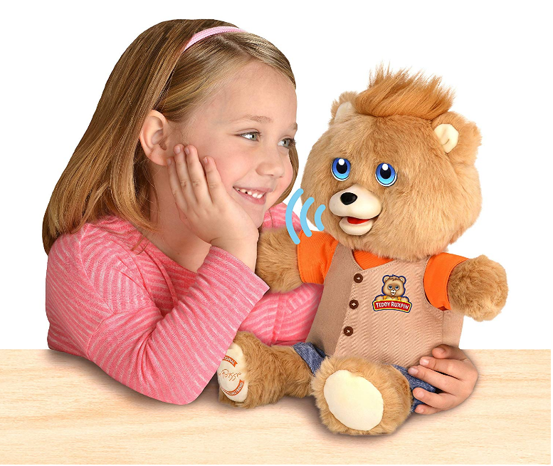 Teddy Ruxpin has touch sensors.