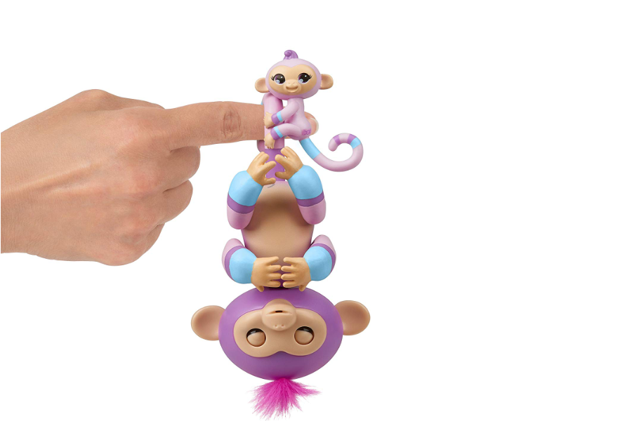 WowWee Fingerlings Baby Monkey Violet & Hope