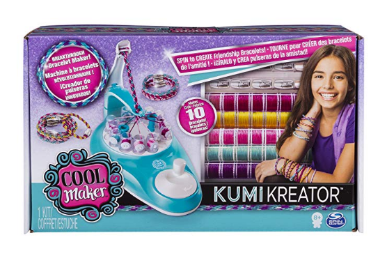 You can create bracelets with the KumiKreator Friendship Bracelet Maker.