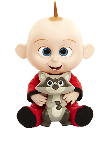 The Incredibles 2 Jack-Jack Plush-Figure giggles if you press his tummy.