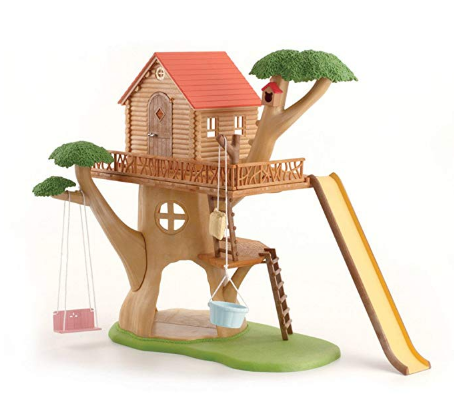 The Calico Critters Adventure Tree House features tons of accessories.