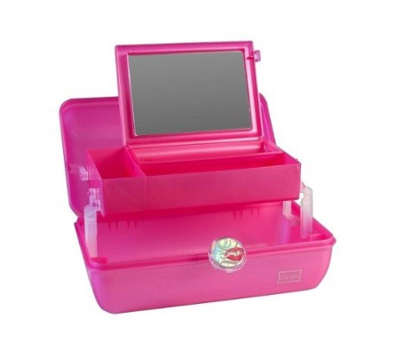 Caboodles On-The-Go-Girl features a mirror.