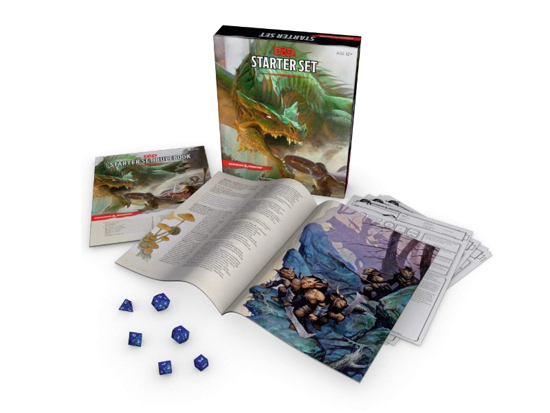 Dungeons and Dragons starter set components