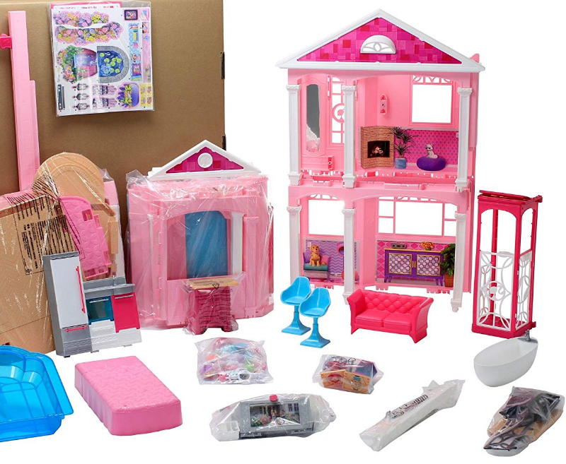 The Barbie Dreamhouse features smart accessories.