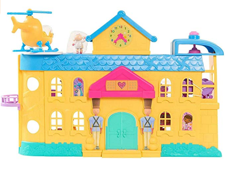 Just Play Doc McStuffins Toy Hospital Playset back