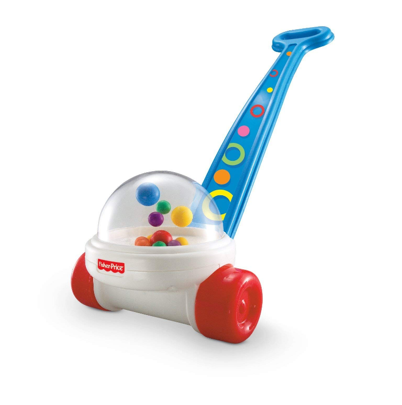 The Fisher Price Corn Popper features a sturdy design.