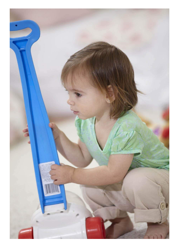 The Fisher Price Corn Popper encourages visual tracking.
