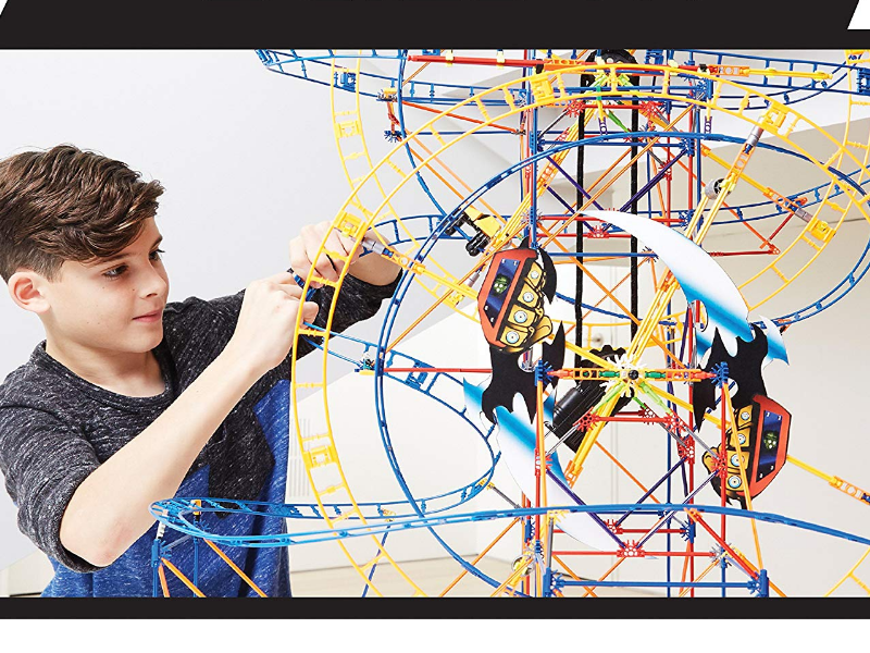K'NEX Thrill Rides Bionic Blast Roller Coaster fun to play with