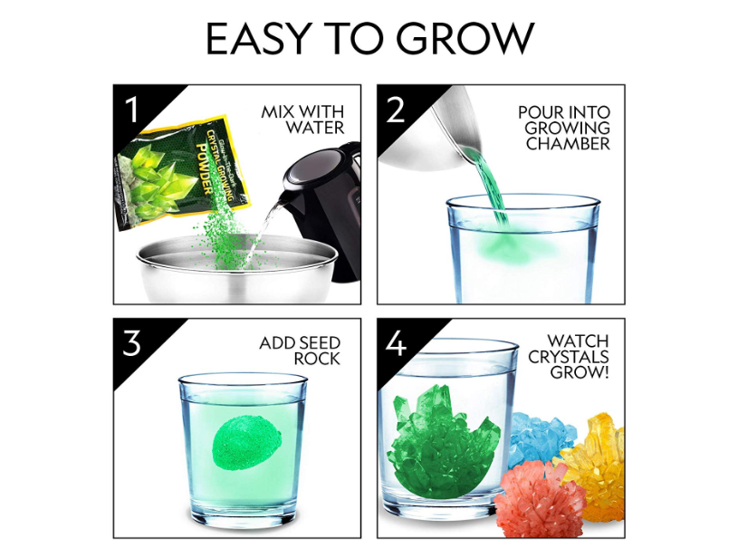 The National Geographic Mega Crystals are easy to grow