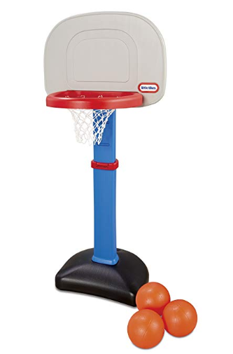 You can place the Little Tikes EasyScore Basketball Set indoors and outdoors.