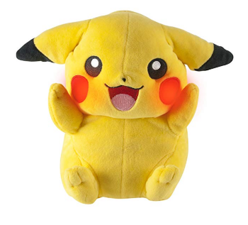 The TOMY Pokémon My Friend Pikachu features lights and sounds.