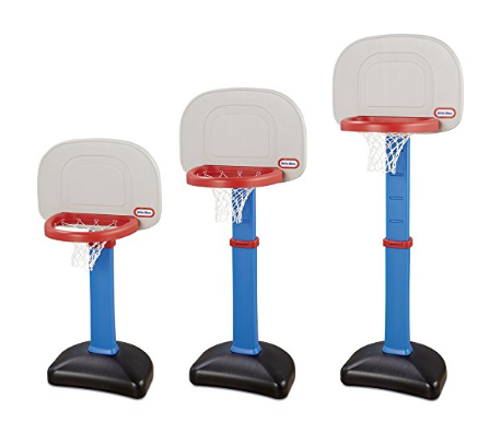 The Little Tikes EasyScore Basketball Set helps develop motor skills.