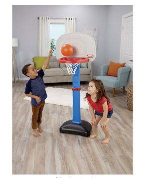 The Little Tikes EasyScore Basketball Set has an oversized rim.