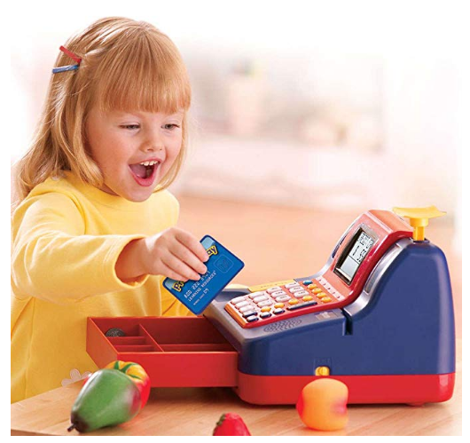 The Learning Resources Cash Register teaches kids basic maths