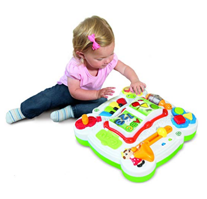 LeapFrog Learn & Groove Musical Table features more than 40 songs.