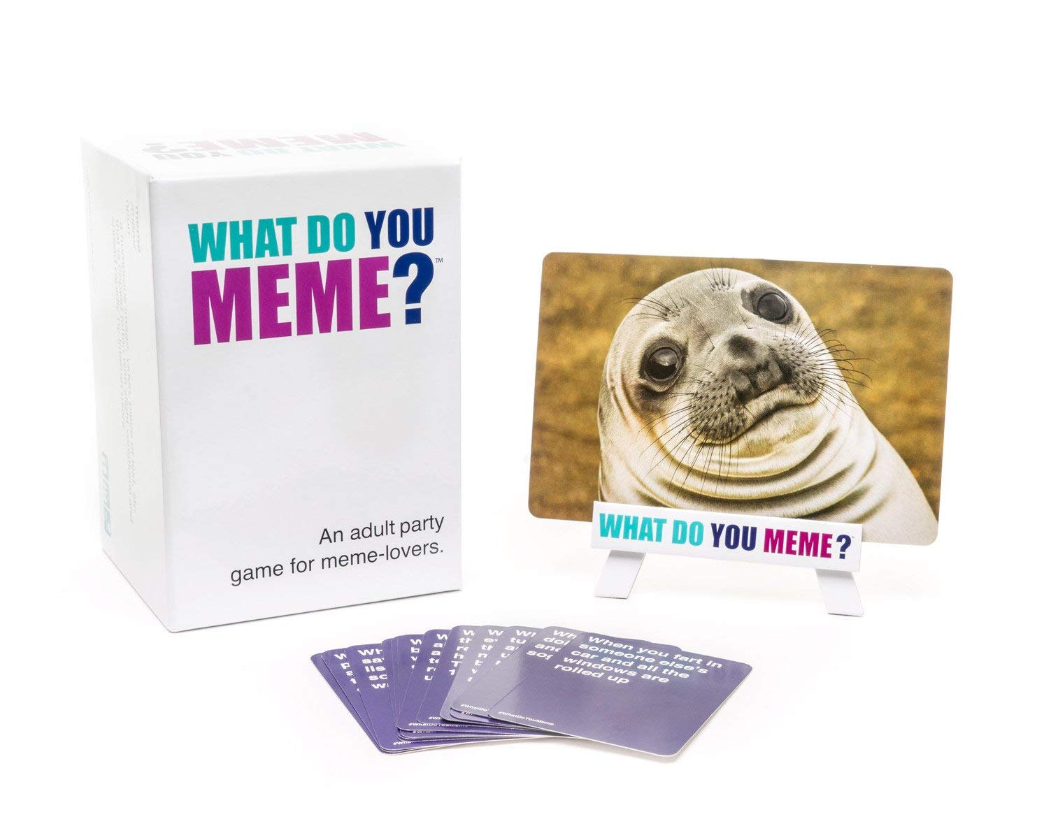 The What Do You Meme? game is a hilarious choice for parties