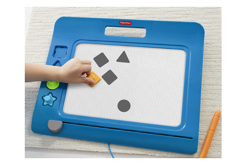 Fisher-Price DoodlePro comes with fun-shaped stamps