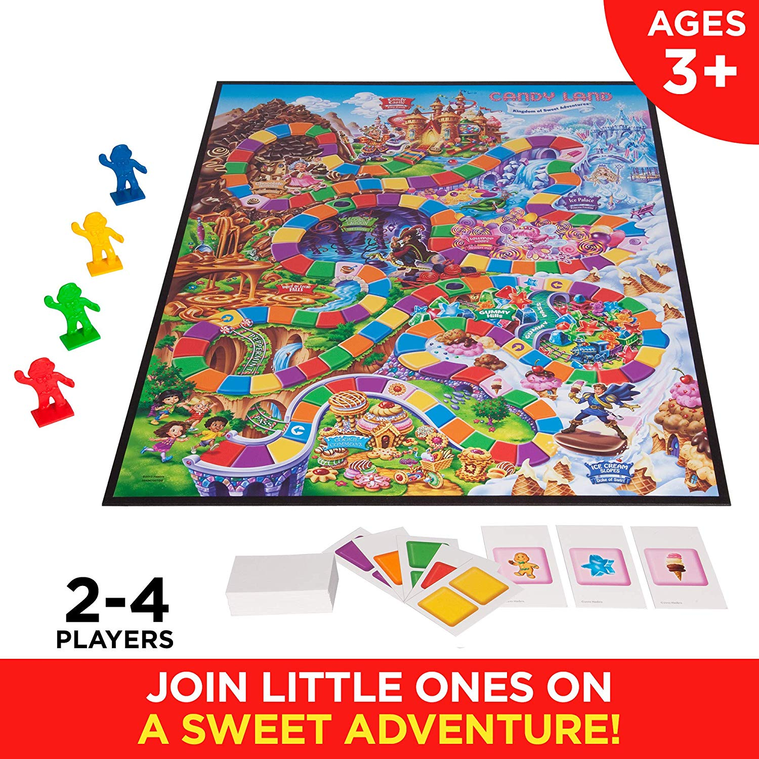 The Candy Land Kingdom of Sweet Adventures is suitable for kids ages 3 and upCandy Land Kingdom of Sweet Adventures