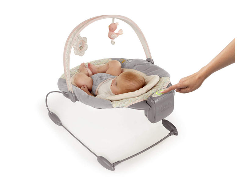 The Ingenuity Smartbounce Automatic Bouncer has 2 rocking speeds