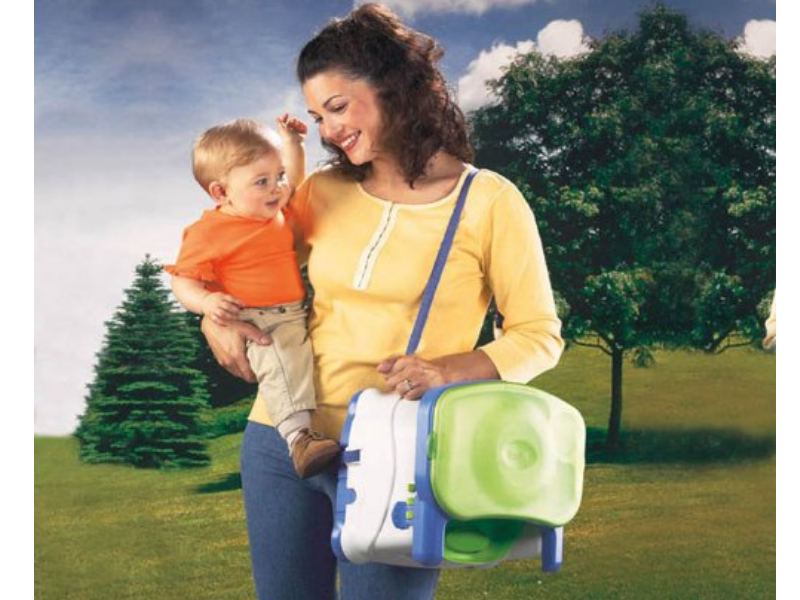 The Fisher-Price Healthy Care Booster Seat is lightweight and easy to carry.