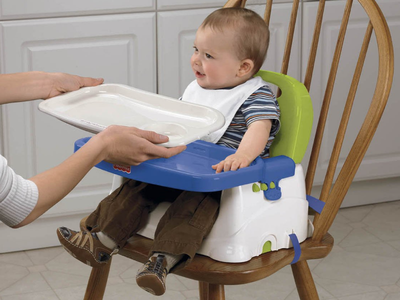 The Fisher-Price Healthy Care Booster Seat has a secure strapping system.