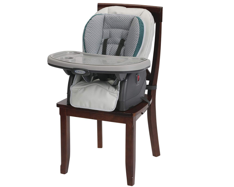 Graco Blossom Highchair can be attached to a regular chair.