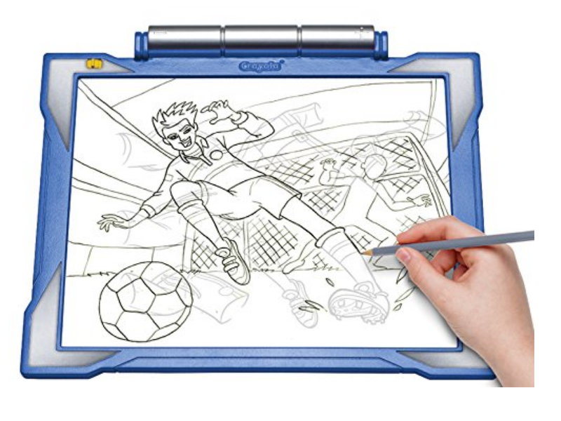 The Crayola Light-up Tracing Pad comes with tracing sheets