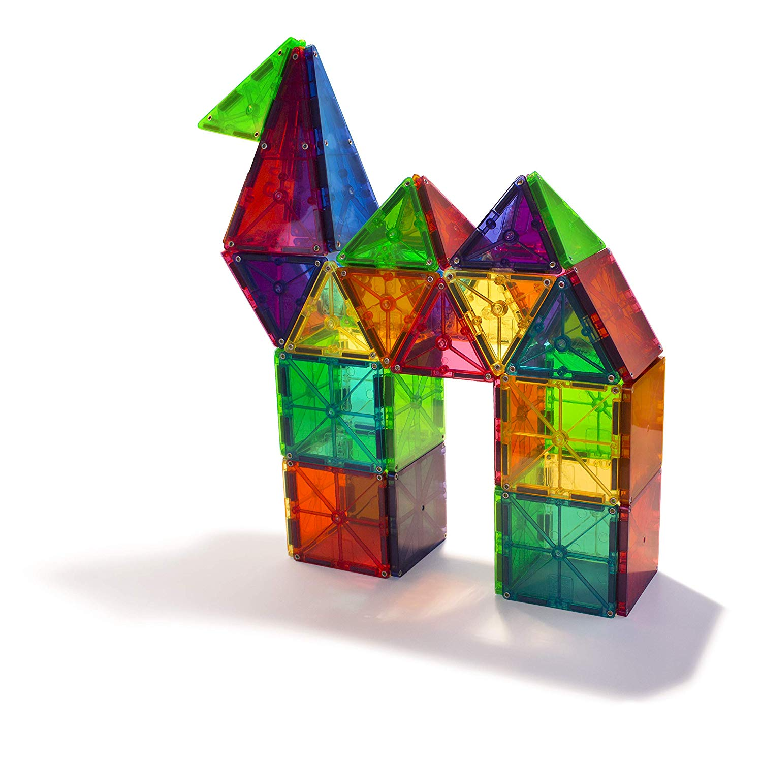 Kids can construct different forms with the Magna Tiles
