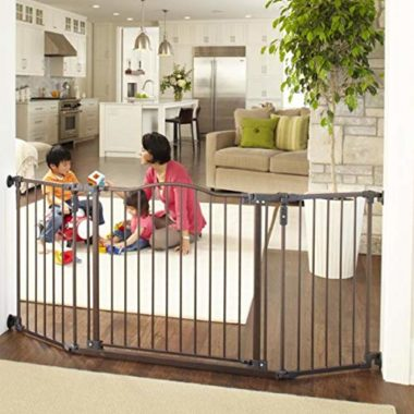 A retractable gate that's not only great for children, but pets as well.
