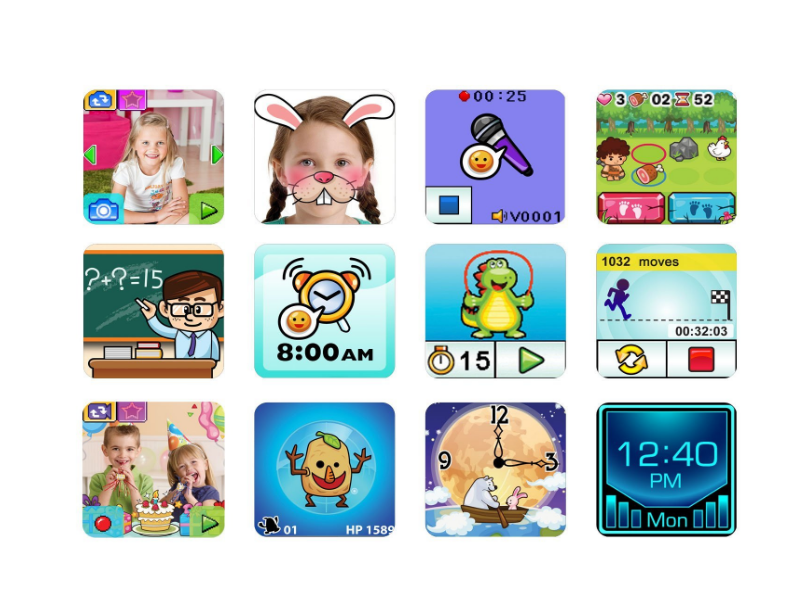 The VTech Kidizoom Smartwatch features a good number of apps and games