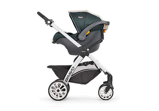 Chicco Bravo Trio Travel System stroller mode